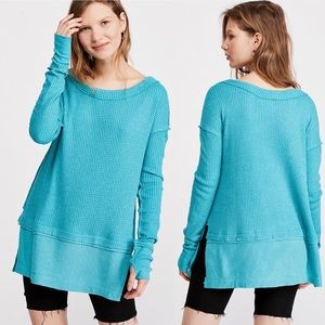 NWT Free People Aqua Bright North Shore Thermal